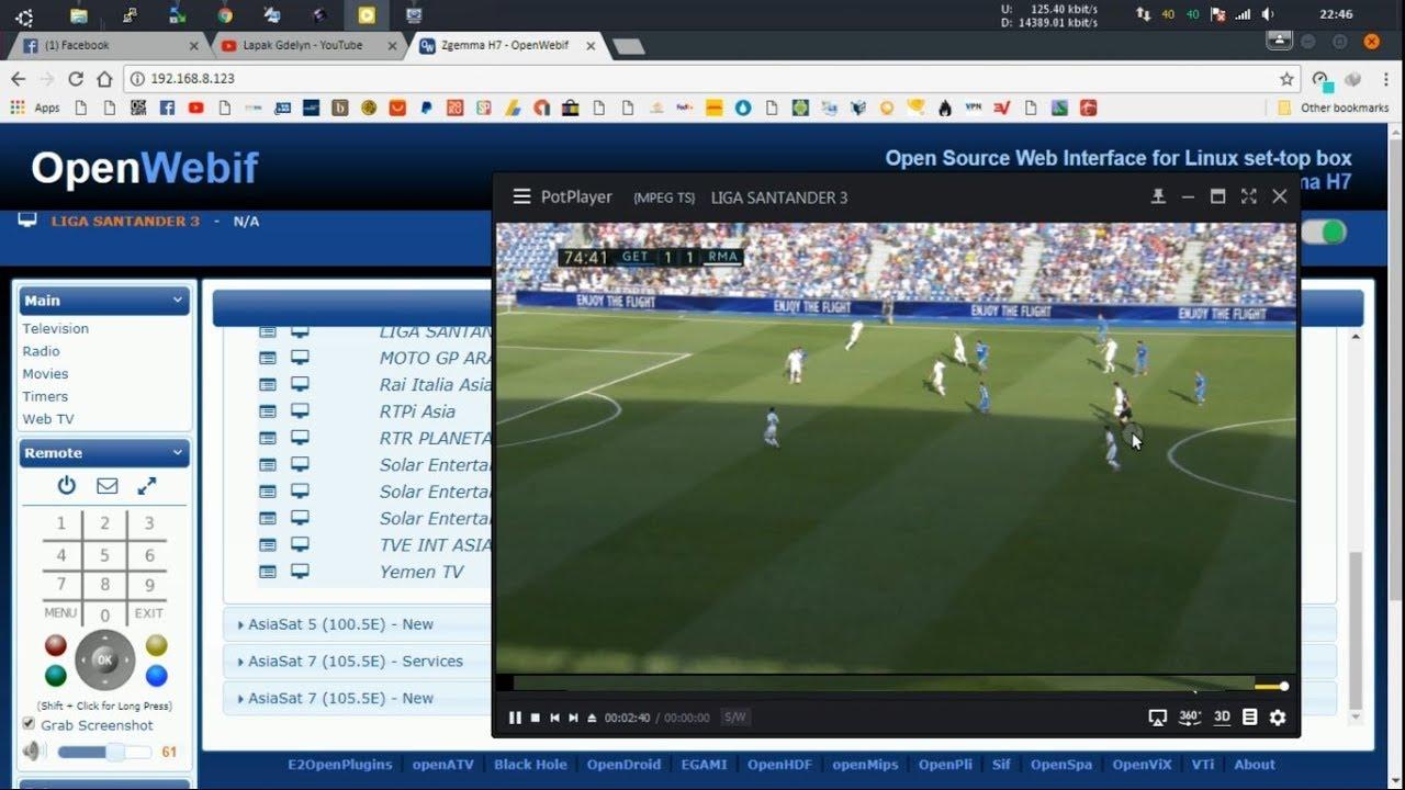 Webserver Zgemma H7S UHD ke Channel Codec 422 - Video - ViLOOK