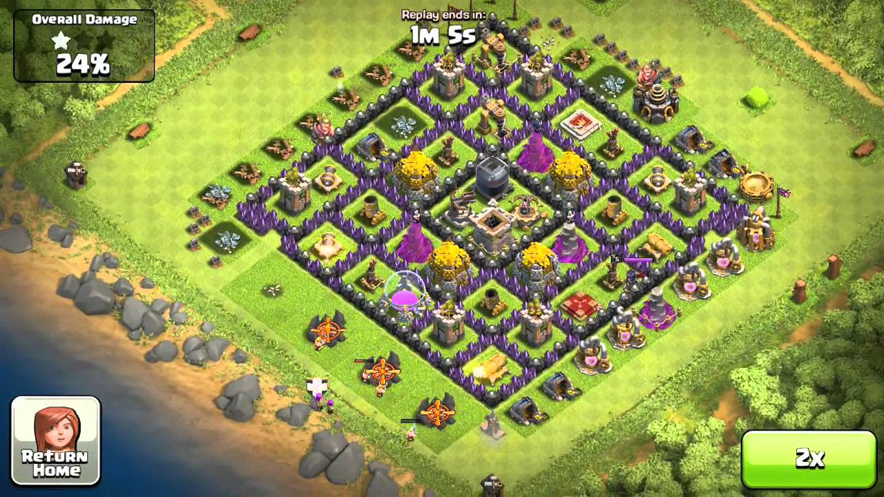 Clash of clans my best town hall 9 defense for farmers shutting
