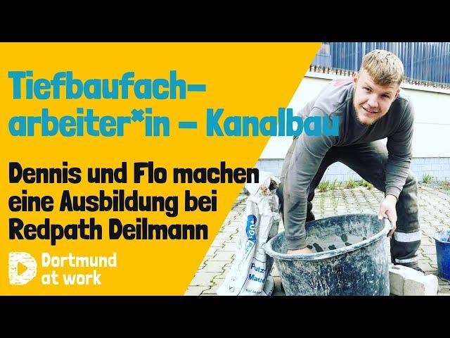 Ausbildung zum*zur Tiefbaufacharbeiter*in - Kanalbau bei Redpath Deilmann