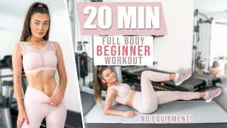 MY 20 MIN BEGINNER FULL BODY WORKOUT ROUTINE! Flat Belly & Round Booty!