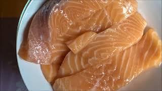 Лосось в апельсиновом маринаде