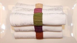 comment décorer rond de serviette en bois