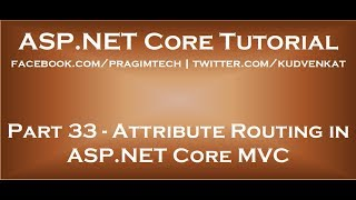 Attribute Routing in ASP NET Core MVC