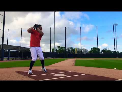 George Springer Home Run Baseball Swing in Slow Motion + Line Drive