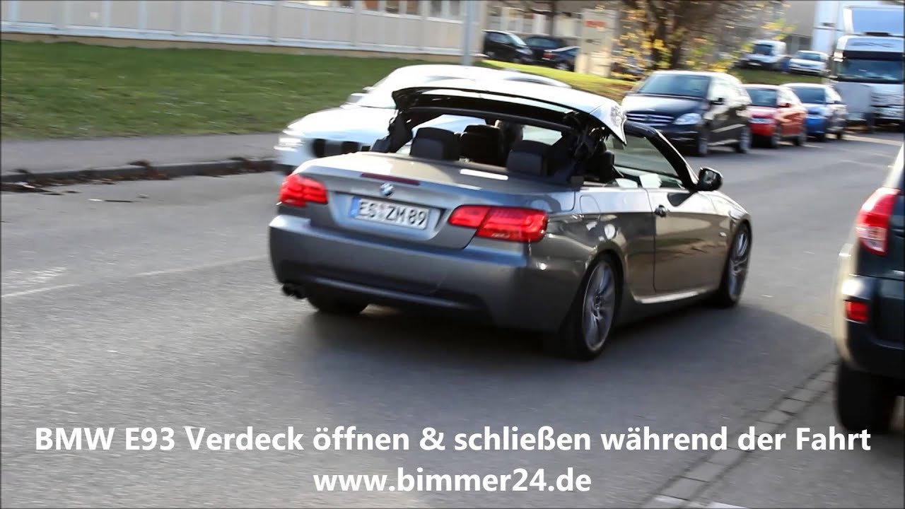 bmw e93 verdeck w hrend der fahrt ffnen schlie en. Black Bedroom Furniture Sets. Home Design Ideas