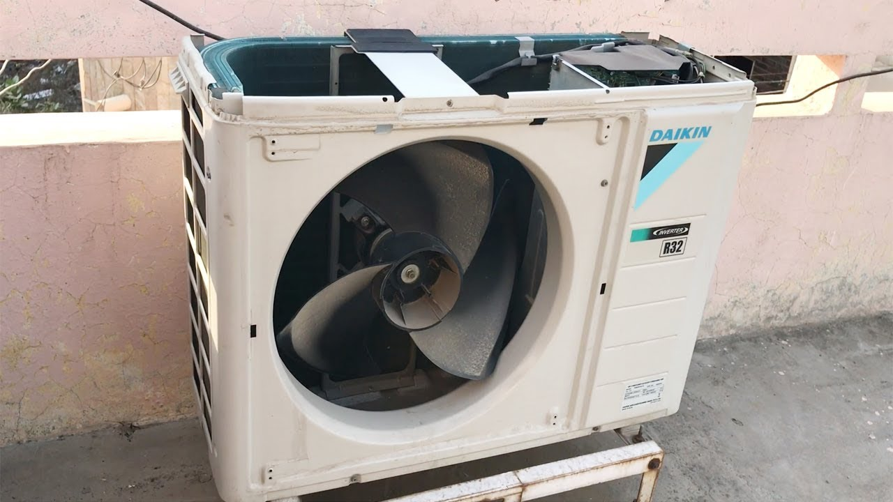 How To Clean Outdoor Unit Of Split Air Conditioner At Home Step By Dry Service You