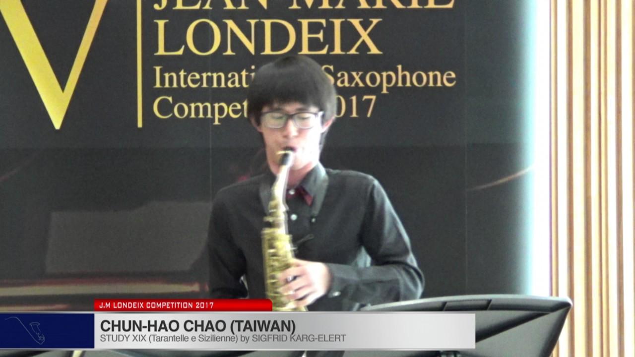 Londeix 2017 - Chun Hao Chao (Taiwan) - XIX Tarantelle e Sizilienne by Sigfrid Karg Elert