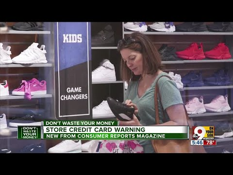 Beware high interest rate on store credit card