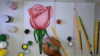 Pintura Realista Botão de Rosa – Super Fácil