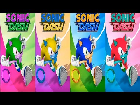 Sonic Dash - Learn Colors With Classic Sonic Education Funny Game Cartoon For Kids
