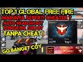 INI DIA TOP GLOBAL 1 FREE FIRE , MAINNYA JAGO BANGET AUTO HEADSHOT TANPA CHEAT [REACT] - FREE FIRE