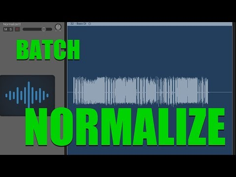 How to batch normalize audio files in OSX