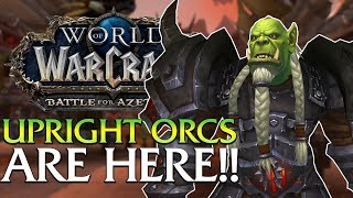 Upright Orcs FINALLY - In Game Preview   World of Warcraft