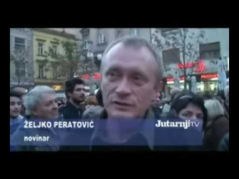 Prosvjed povodm ubojstva Ivane Hodak (izjava potpredsjednika Centra na 1:36)