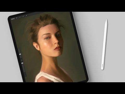 Painting A Realistic Portrait In Procreate | Timelapse (8 Hours In 1 Minute)