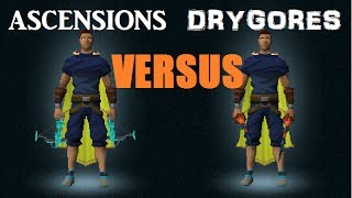 Ascension Crossbows VERSUS Drygore Weapons: Runescape Damage Test! [2014]