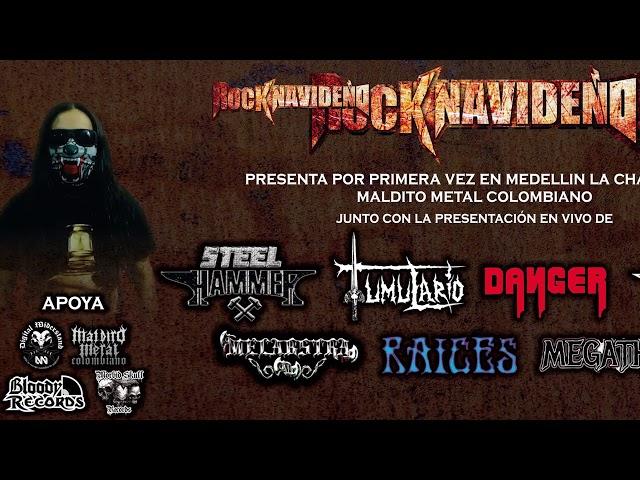 MALDITO METAL COLOMBIANO INVITACIÓN CHARLA MEDELLIN ROCK NAVIDEÑO
