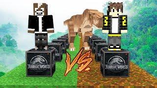 NUEVOS LUCKY BLOCKS de JURASSIC WORLD vs T-REX GIGANTE😱💥 - MINECRAFT LUCKY BLOCKS