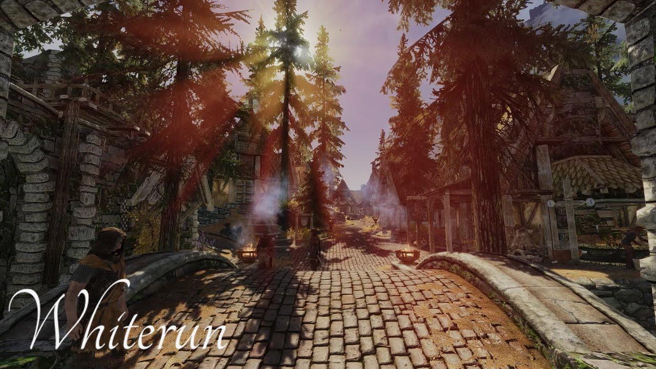 Skyrim Remastered - Whiterun Tour - Ultra Modded PC Graphical Setup 60fps
