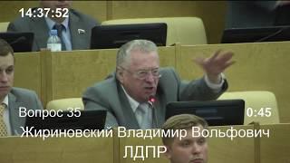 Жириновский кричит на Аксакова после отчета Центрального Банка