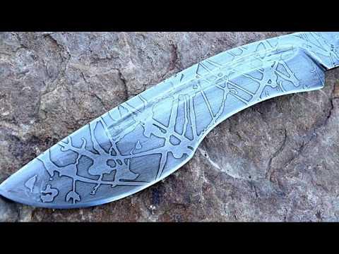 большой кованный нож из рессоры