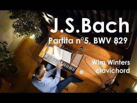 J.S.Bach :: Partita n°5, BWV 829:: Wim Winters, Clavichord