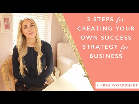 3 steps for creating your own success strategy for business + free worksheet