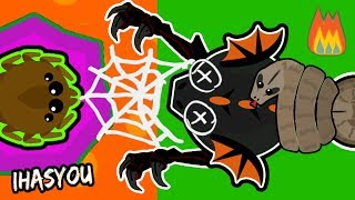 MOPE.IO BEST WEBBING TROLL ft LA FLAME!!  TRAPPING A BLACK DRAGON ! (Mope.io Funny Trolling Update)