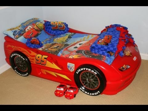 DISNEYCARTOYS Cars Themed Kids Bedroom Disney Cars Toddler Bedroom Race Car  Lightning Mcqueen Bed