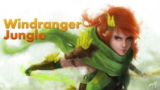 Windranger Jungle | Level 5 in 4 mins