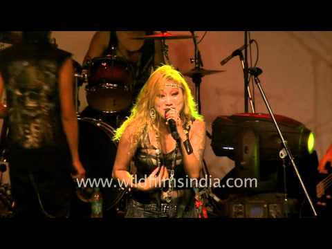 Rocker Alvina Gonson sets the stage on fire - Northeast festival, Delhi