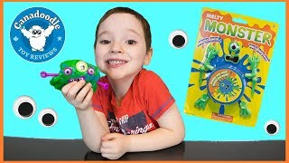 MELTY MONSTERS Fun Putty Toys for Kids! Creating silly slime monsters with Canadoodle Toy Reviews