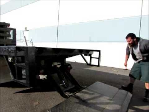 Free Junk Removal >> Sold! Chevrolet W4500 15' Stake Bed Flatbed Truck Lift ...
