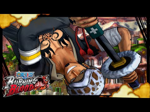 One Piece Burning Blood - Trafalgar Law(Duel) at Dressrosa DLC Costume GAMEPLAY Ranked Online Match!