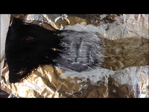 How To Ombre Hair Extensions / How To Bleach Hair Extensions