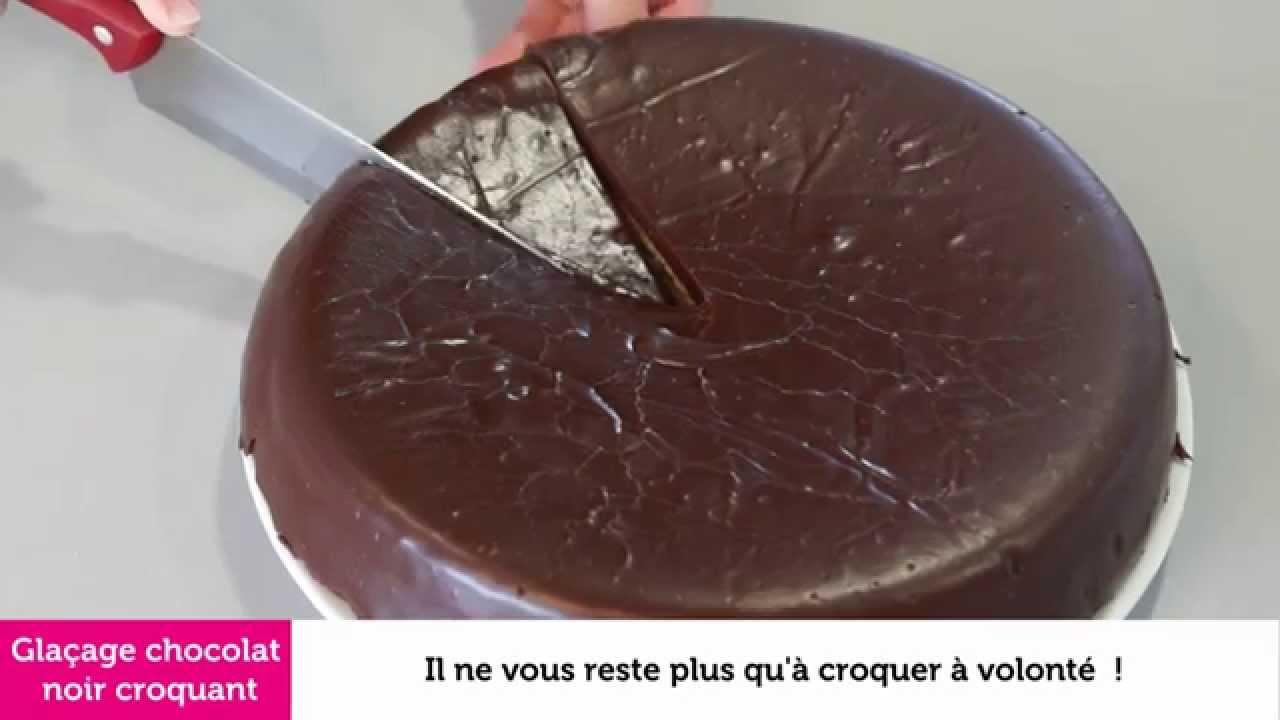 Recette all chante du gla age au chocolat noir croquant - Glacage miroir chocolat ...