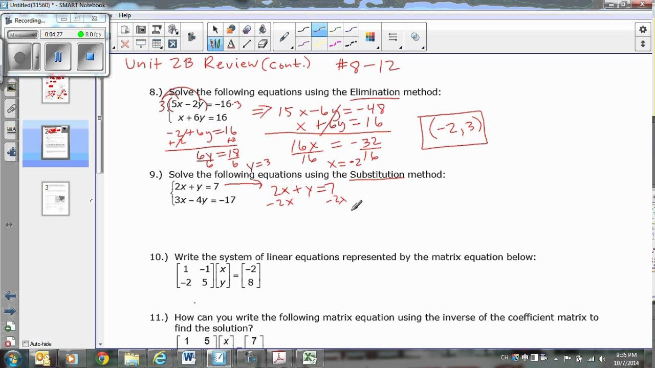Best Ideas Of Algebra 2 Unit 8 Test Review for Your Algebra Ii Review