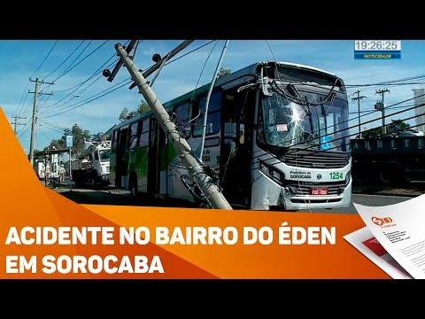 Acidente no bairro do Éden em Sorocaba - TV SOROCABA/SBT