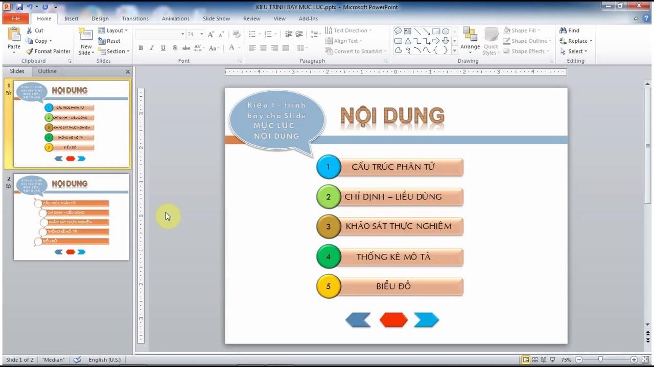 MICROSOFT POWERPOINT – Trình bày các đề mục trong slide bằng công cụ Shapes và SmartArt.