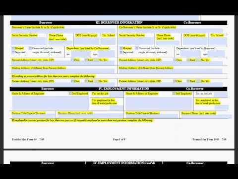 How to complete a 1003 loan application - YouTube