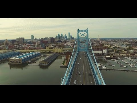 Philadelphia (part 3) - Ben Franklin Bridge & Fishtown (Aerial View)