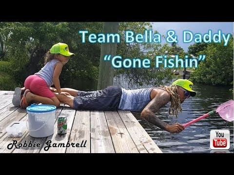 Daddy and daughter go Fishing with some fun alternative ways Team Bella & Daddy (Robbie Gambrell)