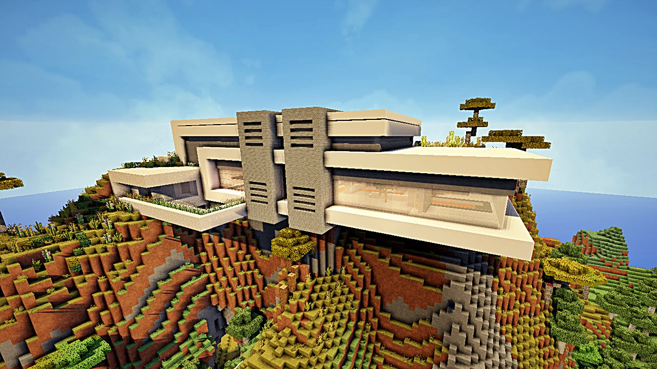 Minecraft maison moderne avec Xroach  1  YouTube