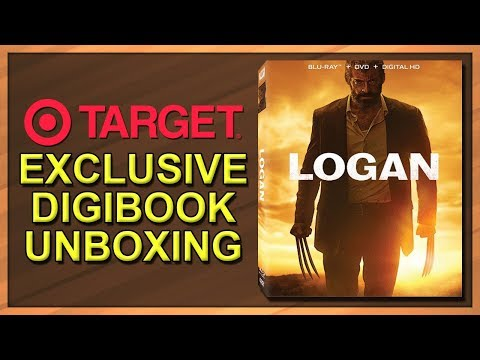 Logan Target Exclusive Blu-ray Digibook Unboxing
