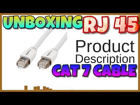 AmazonBasics RJ45 Cat7 Network Ethernet Patch/Lan Cable UNBOXING