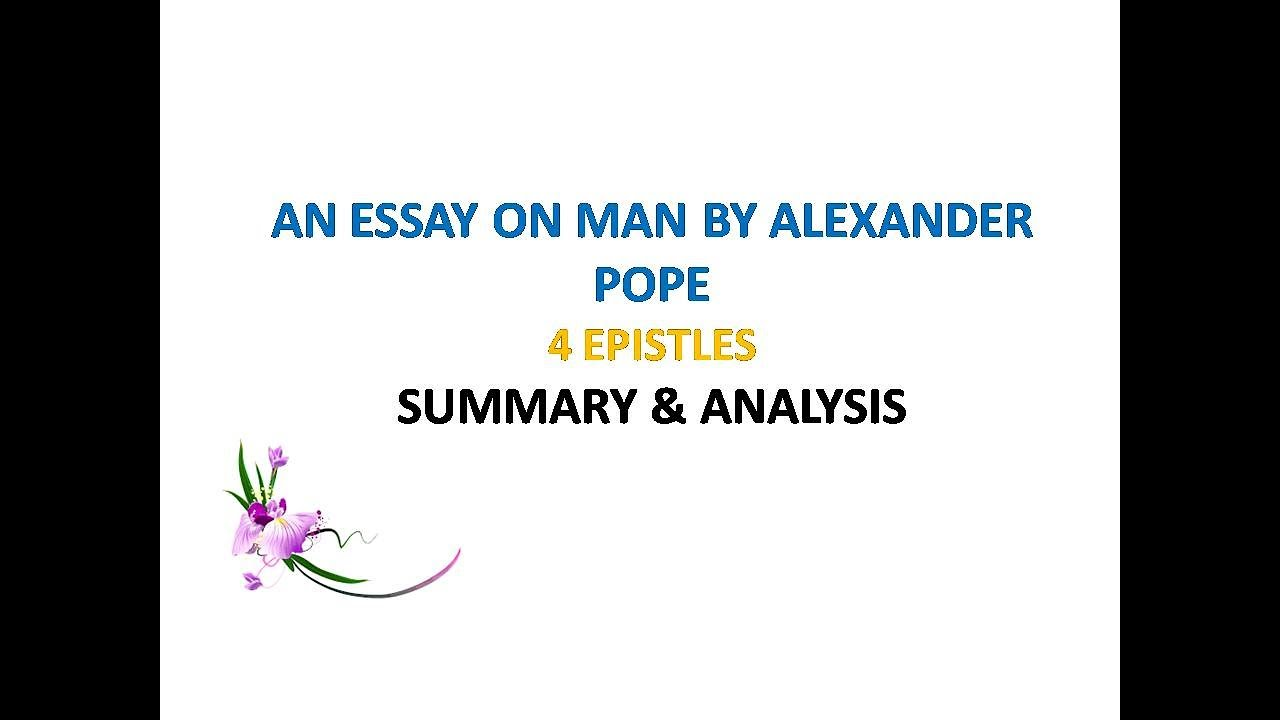 Pope essay on man summary