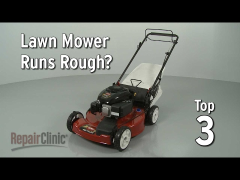 "Thumbnail for video ""Lawn Mower Runs Rough? Lawn Mower Troubleshooting"""