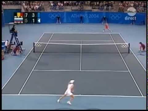 [HL] Justine Henin vs. Anastacia Myskina 2004 Athens Olympics [SF]