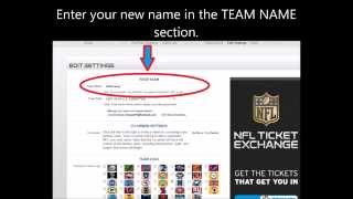 FAST - How to Change Your Team Name NFL Fantasy League