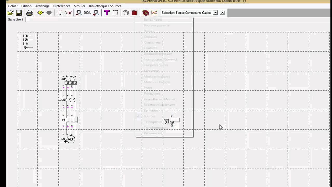 comment dessiner un schema sur schemaplic 3 0